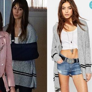 Spencer Hastings ASOS Boxy Stripe Cardigan